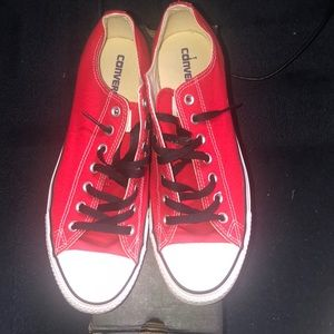 Red  and white converse mens